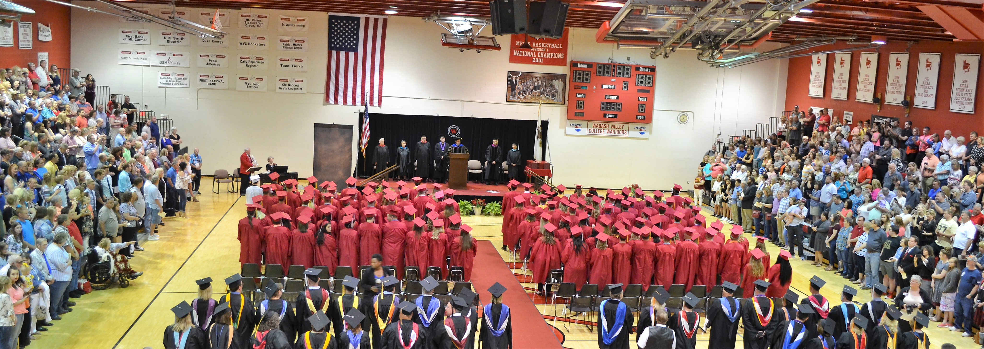 Photo of WVC Graduation in the Spencer Sports Center
