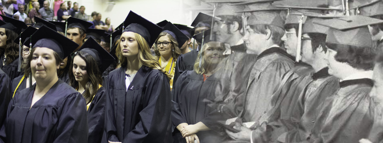 Mix of old and new graduation ceremonies